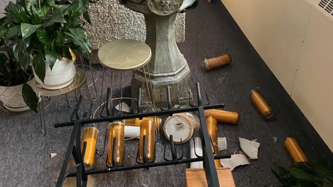 Damage at church